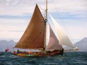 El velero Eda Frandsen navegando por la isla de Skye.