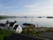 Bahia de Craighouse en la isla de Jura, Escocia